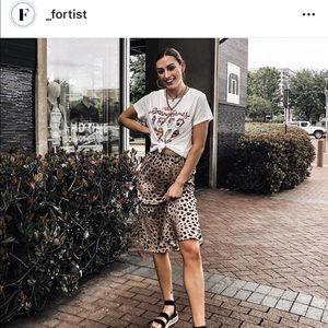 Fortis Skirts - Leopard midi skirts